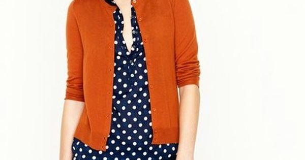 style an orange cardigan