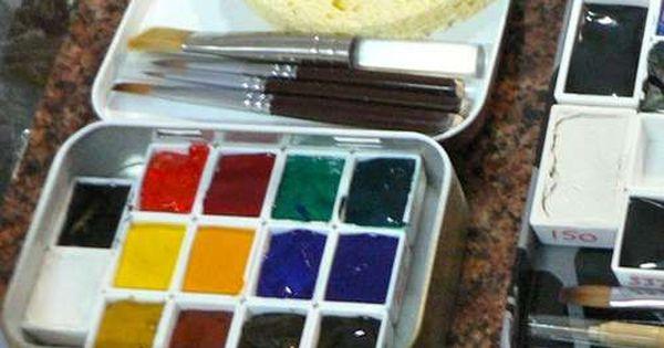 Movable Pallet Altoid Tin Watercolor Set Diy Watercolor Tin Art
