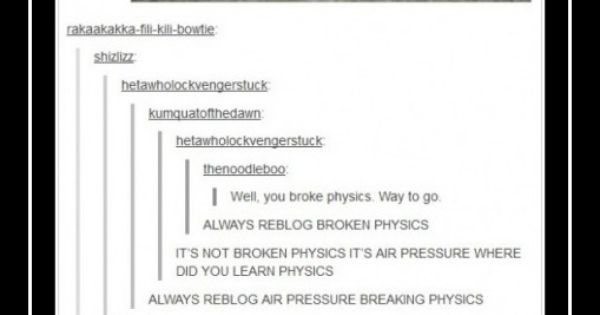 *raises hand* I did! Yep, I was laughing about the air pressure
