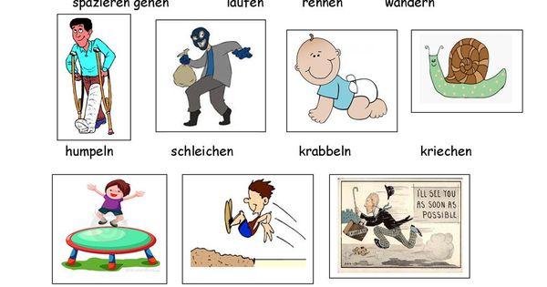 wortfeld gehen deutsch schule und deutsch lernen. Black Bedroom Furniture Sets. Home Design Ideas