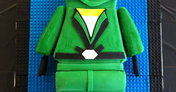 Green Ninjago - I made this cake for a five year old