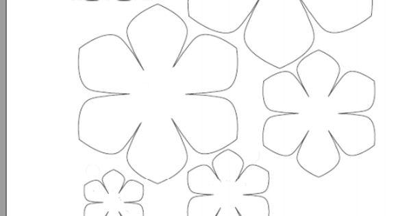 шаблон цвете КАК СЕ ПРАВИ ШАБЛОНИ Pinterest