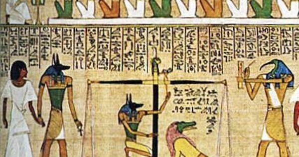 Papyrus Showing The Weighing Of The Heart Against The Feather