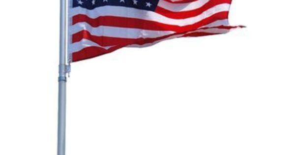 6 X 1 1 4 1 Piece Brushed Aluminum Flag Pole Flag Poles For Sale Aluminum Pole Flag