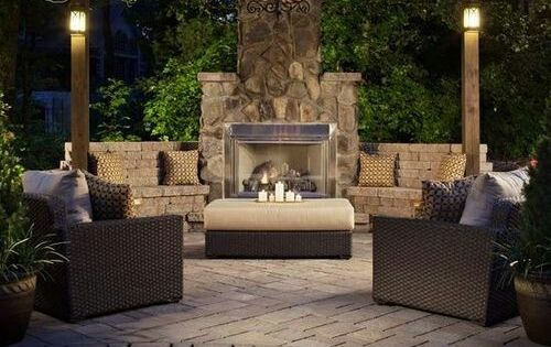 Contemporary outdoor fireplace learn how to design your for Design your own fireplace