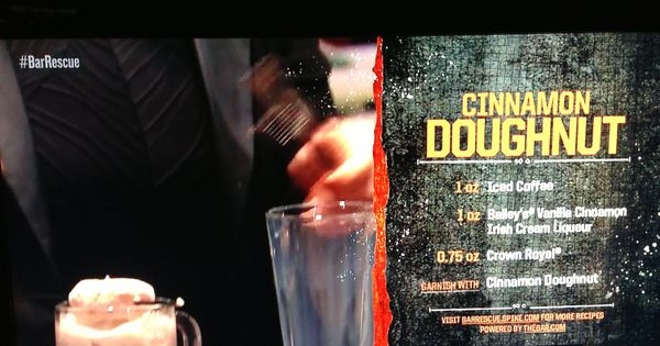 Bar Rescue Drink Menu