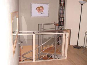 Garde Corps Fait Maison Plexiglas Et Bois Tout Simple Cathypety Idees De Meubles Lits Mezzanine Et Garde Corps