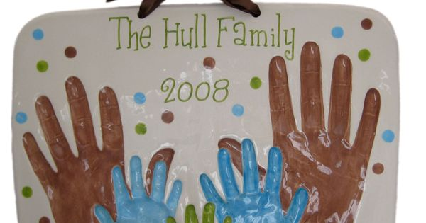 Family Plaque Baby Handprint Kit also I HAVE to repost it cuz