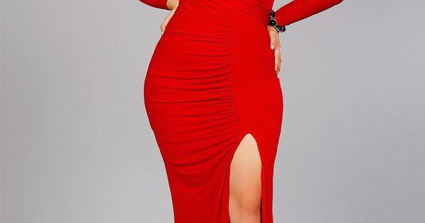 Plus Dresses Collection Long Red Jessica Rabbit Dress Plus Size