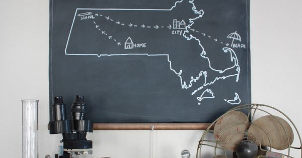 Chalkboard State Map, via Etsy.