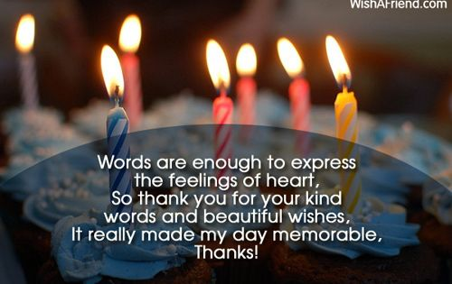 Thank You Letter For Birthday Greetings