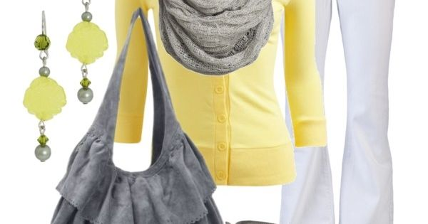 Yellow and Grey (3/4 Rib Cardigan - Teen Clothing by Wet Seal