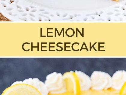 Lemon Cheesecake - a smooth and creamy lemon cheesecake ...