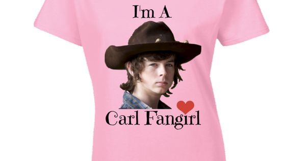 I M A Carl Fangirl Womens Fitted T Shirt Chandler Riggs