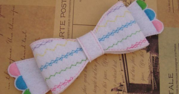 Ith colorful scallop bow embellishment diy quick easy