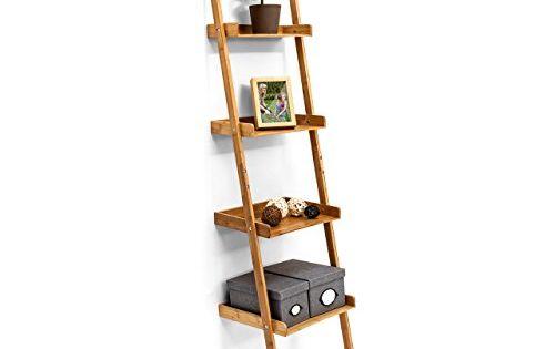 Relaxdays tag re chelle en bambou salle de bain rangeme for Echelle bambou salle de bain
