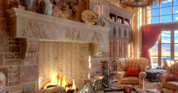 this fireplace  interior design  Pinterest