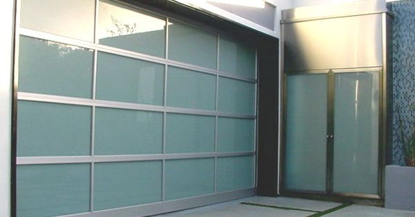 Modern Glass Garage Door And Entry Door Frosted Glass For