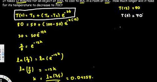 Newton S Law Of Cooling Calculus Example Problems Differential
