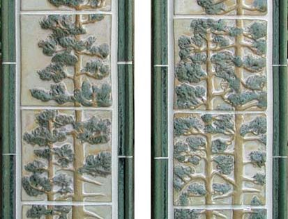 Pine Tree Tile Panels This Photo Shows The Stoney Matte