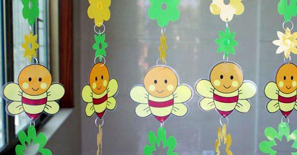 Trasporto libero cartone animato ape decorativo paillettes