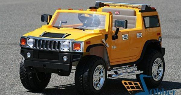 Ride On Toys Power Wheels Hummer H2 Yellow Battery Operated W Rc 12v Suv Kids Hummer Ride On Toys Power Wheels