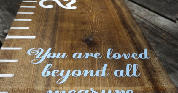 16 Best Images About Loved Beyond Measure On Pinterest: Wooden Growth Chart Ruler Large Growth By