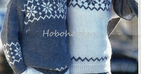 Snowflake Jumper Knitting Pattern : womens mens snowflake fair isle chunky sweaters fair isle jumper pattern 32-4...