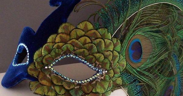 Velvet Peacock mask. Karnevàl Designs. In Greek mythology, Arges possessed a thousand