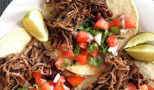 Slow Cooked Barbacoa Beef Tacos