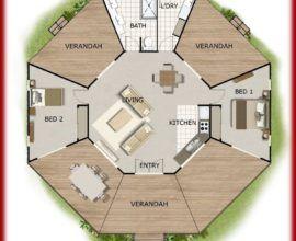Tiny House Floor Plans Octagon House Plans House Plans With A House Plans Australia Round House Plans Octagon House