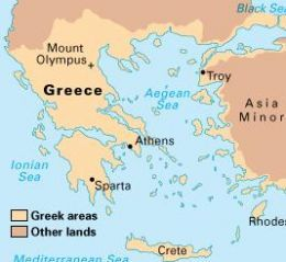 A map of Greece | education | Pinterest | Ancient Greece, Greece