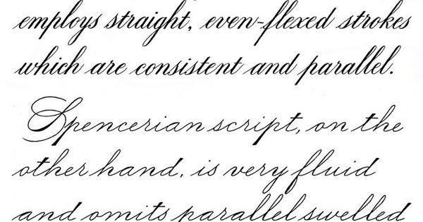 Image result for roundhand penmanship cursive Roundhand calligraphy