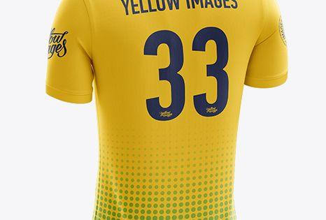 Download 16+ Mens Soccer Jersey Cricket Jersey Mockup Back Half ...