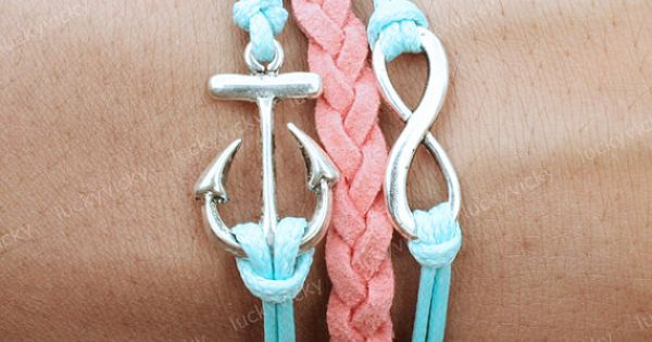 Infinity anchor bracelet.