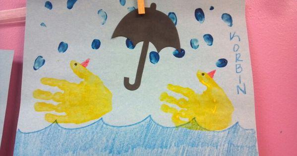 April Handprint Calendar : Spring art such a cute hand print project for april