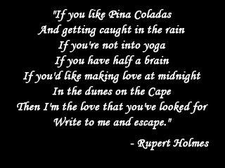 rupert holmes pina colada lyrics