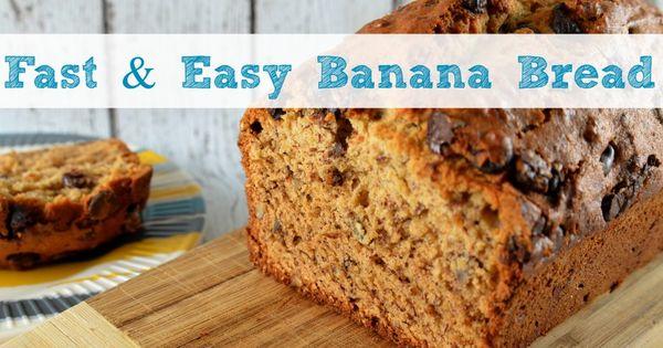 Easy banana bread, Banana bread and Banana bread recipes on Pinterest