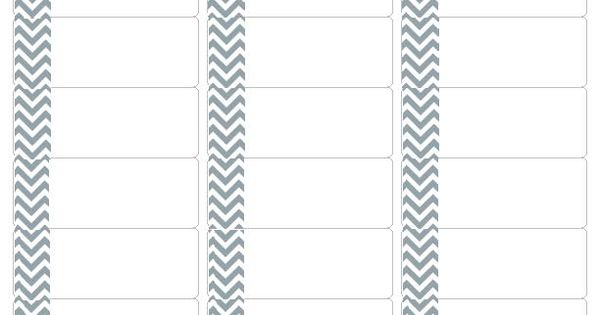 download your free grey chevron address labels  compatible with avery return address label 5162