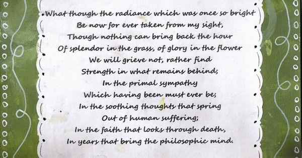 william wordsworth poem splendor in the grass william
