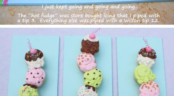 Ice cream cone cupcake cake idea