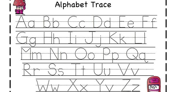 Abc tracing sheets for preschool kids kiddo shelter