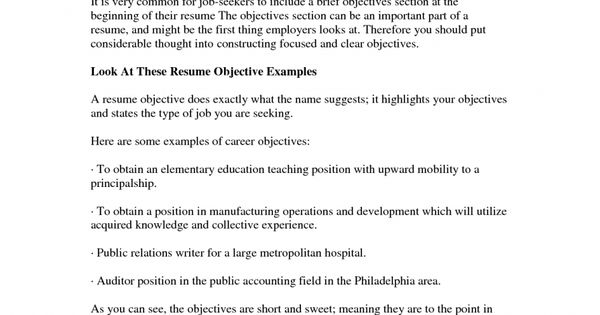 saleslady resume objectives for basic objective examples career - objectives to put on resume