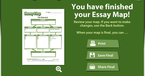 online graphic organizer an essay map from readwritethink tech