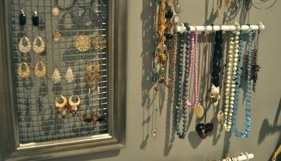 schmuckaufbewahrung ideen display wand selber machen wohnen pinterest schmuckaufbewahrung. Black Bedroom Furniture Sets. Home Design Ideas