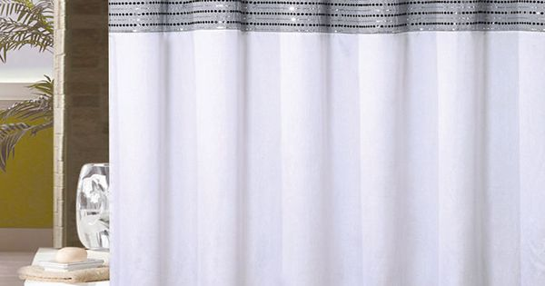 White Black And Silver Gray Shower Curtain Sequins 72in X 72in Gray Shower Curtains