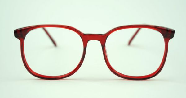 Vintage CHERRY RED 80s Big Eye Glasses Oversized Frames ...