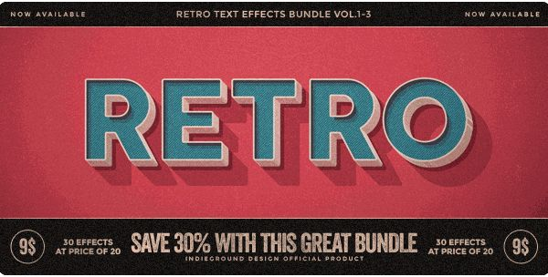 Simple & 3d Retro Effect – quick & easy possibility to apply an high quality retro / vintage / old style to your text
