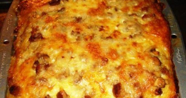 Sausage and Mushroom Strata | recipes | Pinterest | Breakfast Strata ...