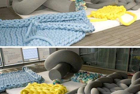Floor Pillows Joannes : Super-Sized DIY Knit Floor Furniture, Cushions & Blankets Make s Pinterest Cushions ...
